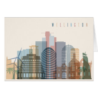 Tarjeta Wellington, horizonte de la ciudad de Nueva