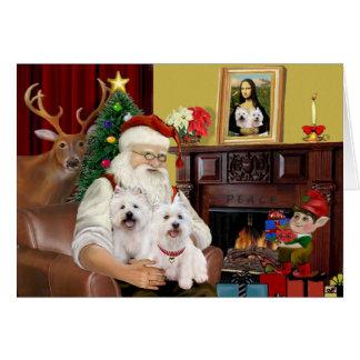 Tarjeta Westies de Santa 2