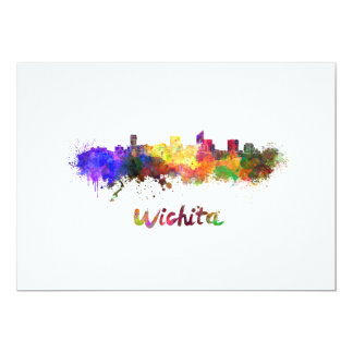 Tarjeta Wichita skyline in watercolor