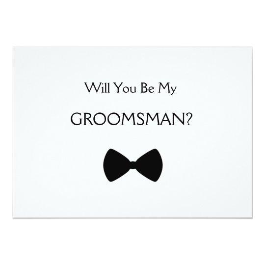Tarjeta Will you be my groomsman?