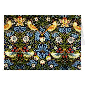 Tarjeta William Morris: Diseño del vintage del ladrón de