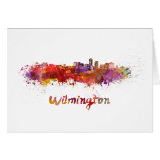 Tarjeta Wilmington skyline in watercolor
