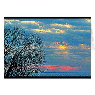 Tarjeta Winnebago del lago que piensa en usted
