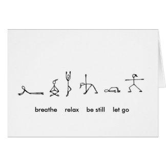 Tarjeta Yoga