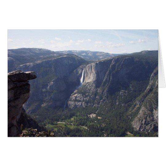 Tarjeta Yosemite en primavera:  Opinión del punto del