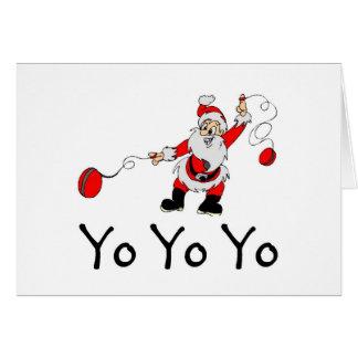 Tarjeta Yoyo Yo Papá Noel