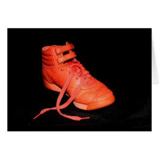 Tarjeta ¿Zapato anaranjado alegre es navidad?