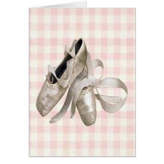 Tarjeta Zapatos de la bailarina
