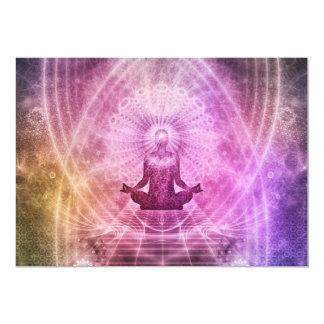 Tarjeta Zen espiritual de la meditación de la yoga