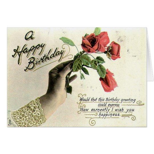 Tarjeta ZHR0024 1910 un feliz cumpleaños