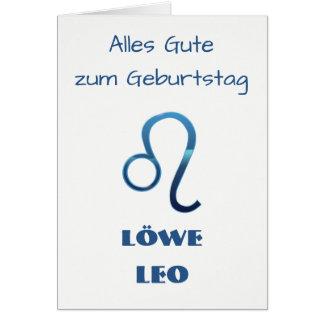 Tarjeta Zodiaco Geburtstag de Blau Löwe Leo