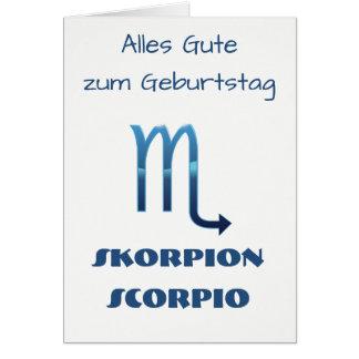 Tarjeta Zodiaco Geburtstag de Blau Skorpion