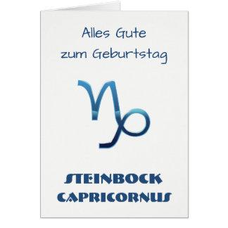 Tarjeta Zodiaco Geburtstag de Blau Steinbock