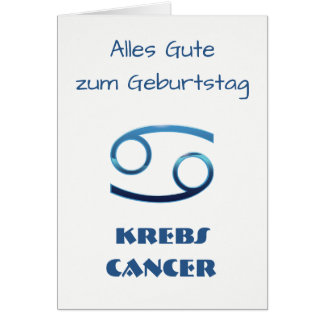 Tarjeta Zodiaco Geburtstag del cáncer de Blau Krebs