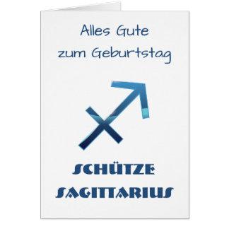 Tarjeta Zodiaco Geburtstag del sagitario de Blau Schütze