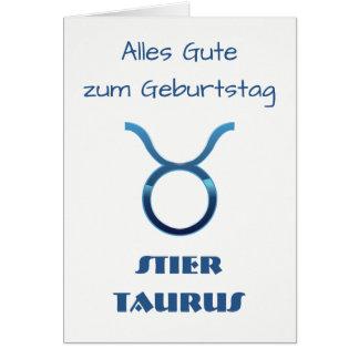 Tarjeta Zodiaco Geburtstag del tauro de Blau Stier