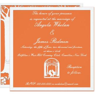 Tarjeta Zorros de papel en naranja
