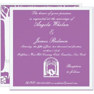 Tarjeta Zorros de papel en orquídea radiante