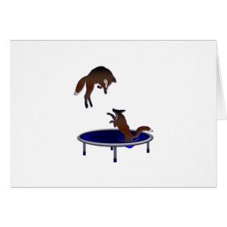 Tarjeta zorros trampolining