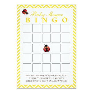 Tarjetas amarillas del bingo de la fiesta de invitación 8,9 x 12,7 cm