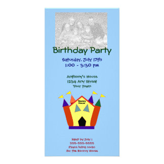 Tarjetas animosas de la foto de la fiesta de cumpl tarjeta fotografica