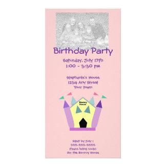 Tarjetas animosas de la foto de la fiesta de cumpl tarjeta fotográfica personalizada