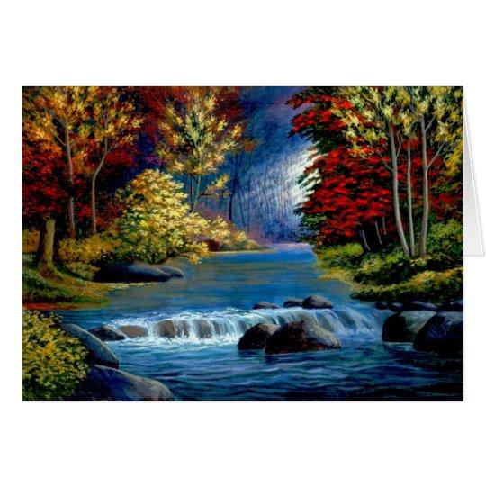 Tarjetas apacibles de un río