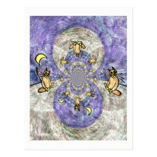 Tarjetas artísticas del caleidoscopio mágico del postal