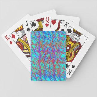 Tarjetas atadas con alambre barajas de cartas