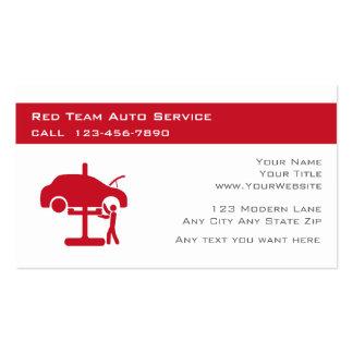 Tarjetas automotrices de la empresa de servicios plantilla de tarjeta de visita