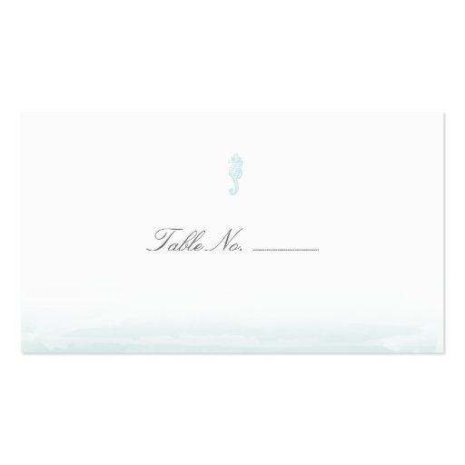 Tarjetas azules del acompañamiento de la tabla de  tarjeta de visita