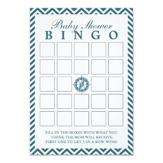 Tarjetas azules del bingo de la fiesta de invitación 8,9 x 12,7 cm