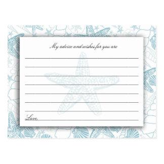Tarjetas azules del consejo y de los deseos de la