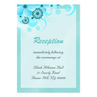 Tarjetas azules del recinto de la recepción tarjetas de visita grandes