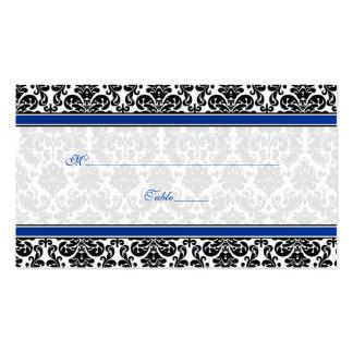 Tarjetas azules, negras, blancas del lugar del bod tarjetas de negocios