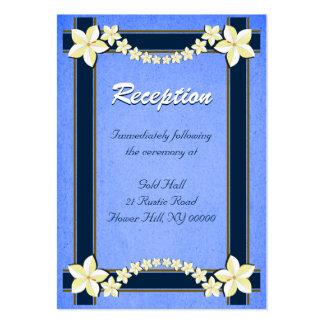 Tarjetas azules rústicas del recinto de la tarjetas de visita grandes