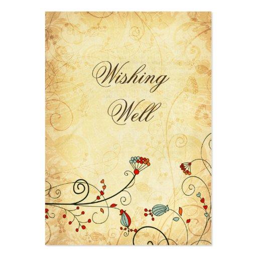tarjetas bien que desean florales rojas del plantillas de tarjeta de negocio