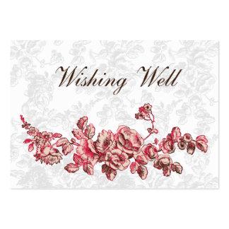 tarjetas bien que desean rosadas plantilla de tarjeta de visita