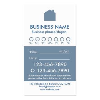 Tarjetas blancas azules de encargo de la cita de tarjetas de visita
