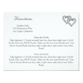 Tarjetas blancas de la dirección del boda de los invitación 10,8 x 13,9 cm