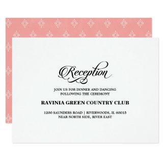Tarjetas blancas de la recepción nupcial del invitación 8,9 x 12,7 cm
