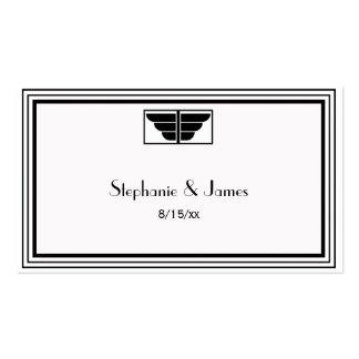 Tarjetas blancas del lugar del marco #2 del negro tarjetas de visita