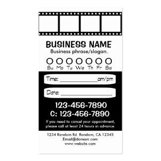 Tarjetas blancas negras de encargo de la cita de tarjetas de visita