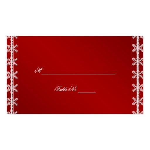 Tarjetas blancas rojas del lugar del boda del invi plantilla de tarjeta de visita