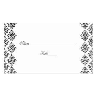 Tarjetas blancos y negros del lugar del boda del d plantilla de tarjeta personal