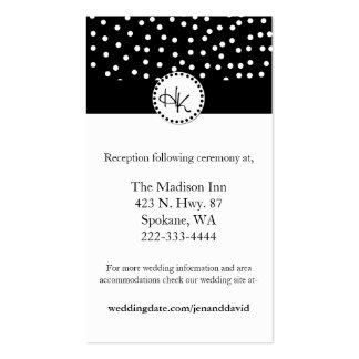 Tarjetas blancos y negros elegantes del recinto de tarjetas de visita