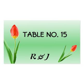 Tarjetas bonitas del número de la tabla de los tul