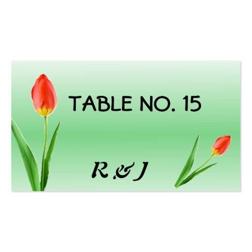 Tarjetas bonitas del número de la tabla de los tul tarjeta de visita
