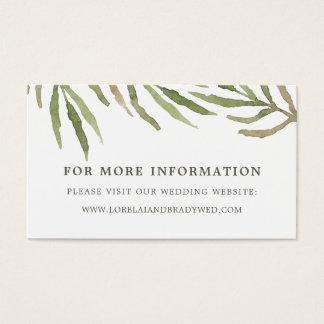 Tarjetas botánicas del Web site del boda del Tarjeta De Negocios