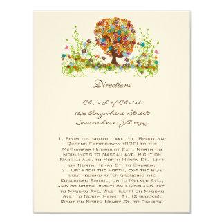 Tarjetas caprichosas de la dirección del boda del invitación 10,8 x 13,9 cm